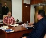 """Chávez: """"Fidel está endemoniadamente bien"""" Foto: Cubadebate"""