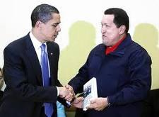 Obama recibe de chávez Las venas Abiertas...