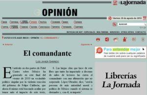 Artículo de Luis Javier Garrido en La Jornada