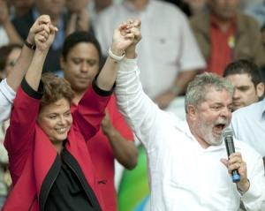 Lula y Dilma en un acto electoral en Campinhas