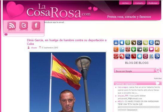 """Dinio en """"La Cosa Rosa"""""""