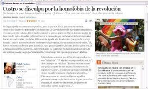 El País sobre entrevista de Fidel