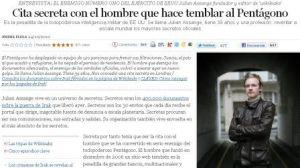 Julian Assange, entrevistado por El País