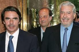 José María Aznar junto a Mario Vargas Llosa
