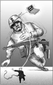 Caricatura publicada por La Jornada (Fisgón)