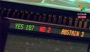 La mayoría del mundo vuelve pronunciarse en contra del bloqueo criminal de Estados Unidos contra Cuba. (Foto: teleSUR)