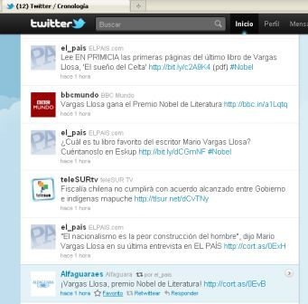El País y Alfaguara gritan a coro el Nobel de Vargas Llosa en Twitter