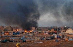 Así quedó el campamento saharaui tras el asalto marroquí