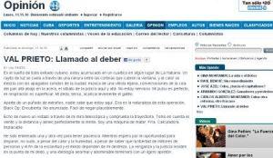 """Artículo publicado por """"El Nuevo Herald"""""""