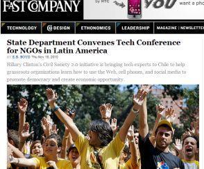 """""""Fast company"""" ilustra su información con la fotografía de una """"protesta"""" de estudiantes venezolanos"""