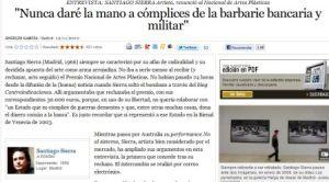 Entrevista de El País a Santiago Sierra