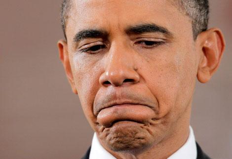 Obama en la conferencia de prensa posterior a las elecciones del 2 de noviembre de 2010