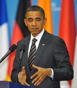 El presidente de EEUU, Barack Obama, en una rueda de prensa en Seúl, con motivo de la celebración del G-20. AFP