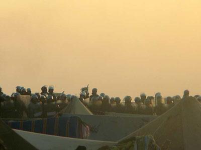 Asalto de la policía marroquí a campamento saharaui Foto: AFP