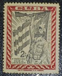 Primer sello de correos emitido por la Revolución Cubana