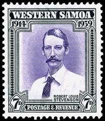Sello de correos en homenaje a Stevenson
