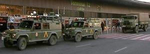 Militares en aeropuerto de Barajas