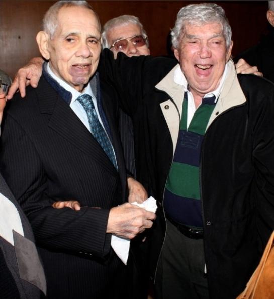 Orlando Bosch y Luis Posada Carriles la noche del 9 de diciembre de 2010 en Miami