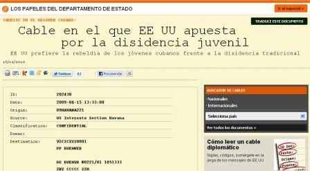 """Cabezal del cable publicado por """"El País"""""""