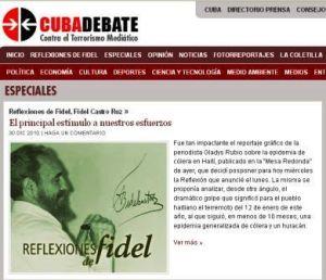 Artículo de Fidel en Cubadebate