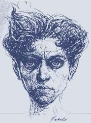 Rubén Martínez Villena dibujado por Roberto Fabelo