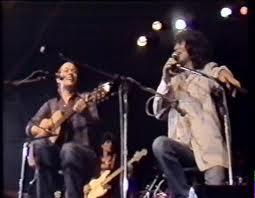 Santiago Feliú, junto a Silvio Rodríguez y Afrocuba en Buenos Aires, 1985