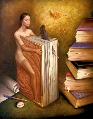 Mujer-libro. Salvador Dalí