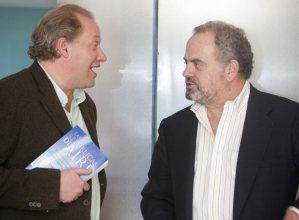 Rafael Rojas junto a Ignacio Polanco, presidente del Grupo PRISA