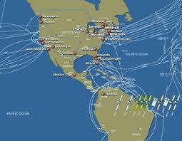 Telaraña de fibra óptica submarina de la que EE.UU. excluye a Cuba