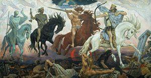 Cuatro Jinetes del Apocalipsis, por Viktor Vasnetsov