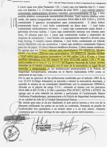 Las actas de decomiso elaboradas por las autoridades argentinas