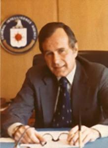 George Bush padre cuando era director de la CIA