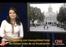 La CNN en español abrió su noticiero de las cinco de la tarde del 21 de febrero del 2011 con información, en directo desde La Habana, esperando un supuesto levantamiento popular que jamás se produjo. La presentadora, Claudia Palacios, no pudo disimular la frustració