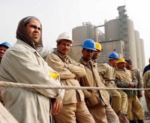 Trabajadores egipcios en huelga