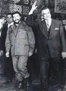 Nasser junto al Comandante Ernesto Che Guevara