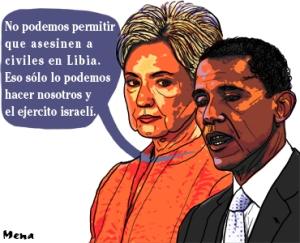 """""""El imperio contraataca"""" caricatura de Diego Mena, tomada de Kaos en la Red"""