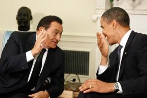 Hosni Mubarak junto a Barack Obama en la Casa Blanca el 18 de agosto de 2009