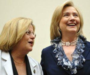Ileana Ros y Hillary Clinton