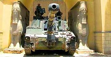 Tanque el el museo nacional de Iraq