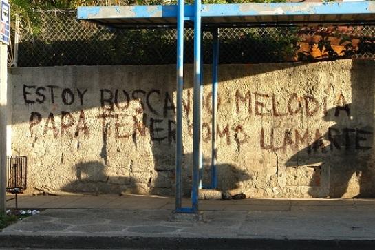 Verso de Silvio en una parada de La Habana