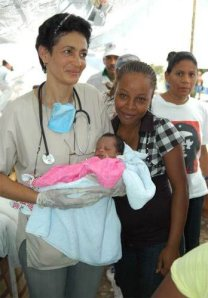 Labor de los médicos cubanos en Haití