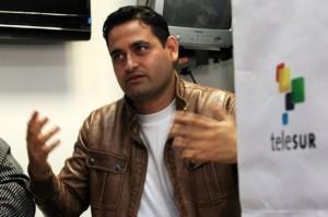 ordán Rodríguez, periodista de Telesur, quien estuvo 38 días como enviado especial en Trípoli