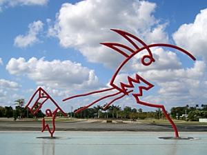 Escultura de Oscar Niemeyer en la Universidad de las Ciencias Informáticas. La Habana, Cuba