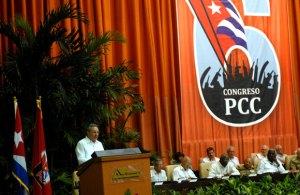 El presidente cubano,Raúl Castro, en la inauguración del Sexto Congreso del Partido Comunista de Cuba