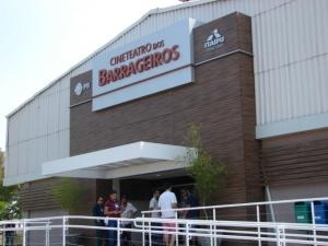Cine Teatro Dos Barrageiros, donde sesionó el Primer Encuentro Mundial de Blogueros. Foto. Manuel Henríquez Lagarde