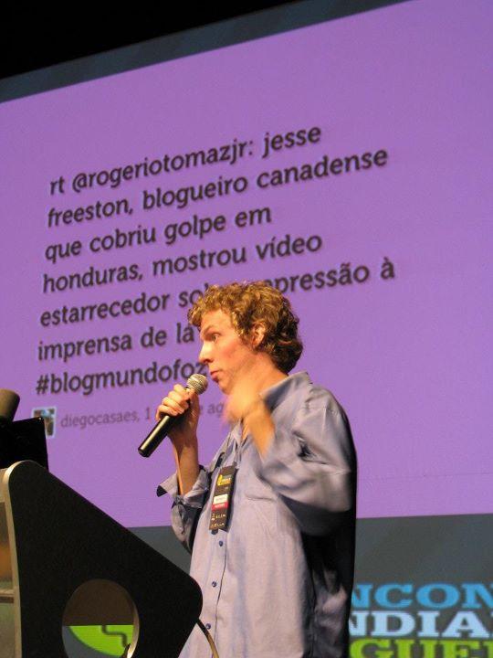 Jesse Preston en el Primer Encuentro Mundial de Blogueros. Foto: Sergio Bertoni