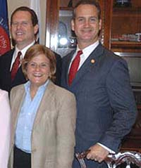 Lincoln Diaz-Balart, Ileana Ros-Lehtinen y Mario Díaz-Balart