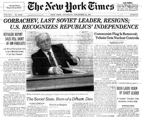 Resultado de imagen de caída de la URSS