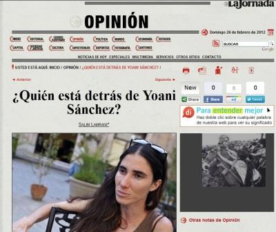 """El artículo de Salim Lamrani en """"La Jornada"""" que demostró el fraude de YS en Twitter"""