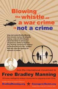 Cartel en solidaridad con Bradley Manning